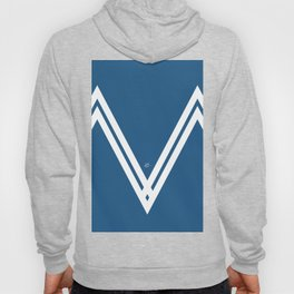 Blue V 3 #blue #white #design #abstract #artdeco #minimal #kirovair #buyart #decor #home Hoody