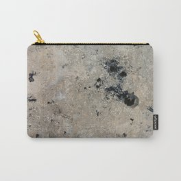 Abstract vintage black gray ivory marble Carry-All Pouch