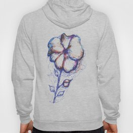flower painted in different colors Hoody