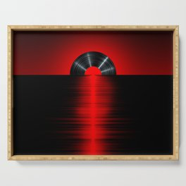Vinyl sunset red Serving Tray