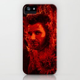 Lucifer in flames iPhone Case