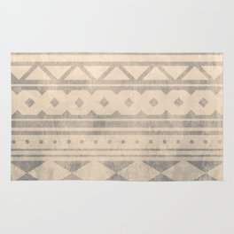 Ethnic geometric pattern with triangles circles shapes and lines Rug