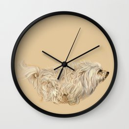 Havanese on the Run Wall Clock