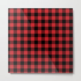 Buffalo Plaid Rustic Lumberjack Buffalo Check Pattern Metal Print