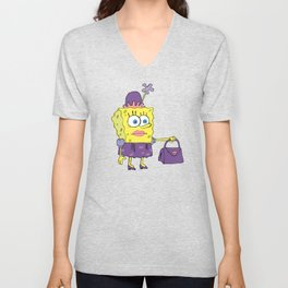 SpongeBob in drag meme Unisex V-Neck