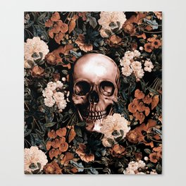 SKULL AND FLOWERS II Canvas Print