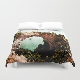 Secret Cove Vintage Seascape Duvet Cover