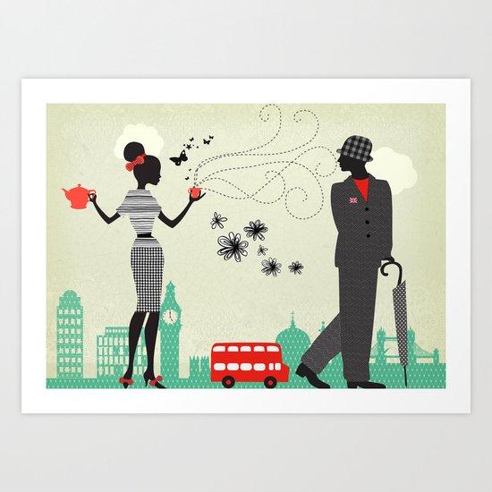 London five o clock Art Print