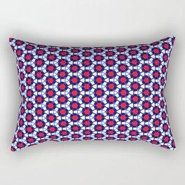 Red & Blue Pattern Rectangular Pillow