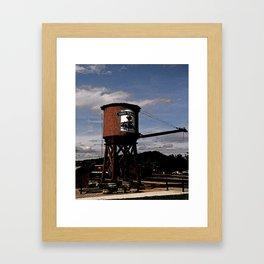 1880 Train Watertower Black Hills Abstract Framed Art Print