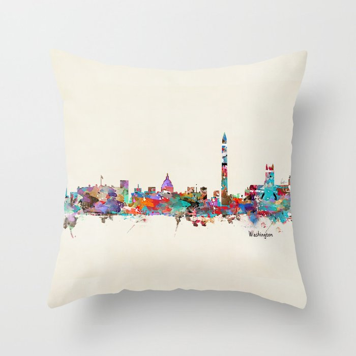 Washington Dc Skyline Throw Pillow By Bribuckley Society6