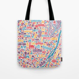 Munich City Map Poster Tote Bag