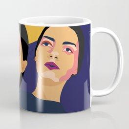 Womanity - Curiosity- Model#3.3 - fashion illustration Coffee Mug