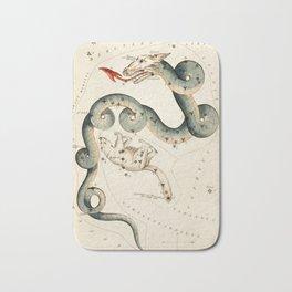 Draco Dragon Star Sign - Vintage Illustration Bath Mat