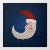 santa Canvas Prints featuring Santa  by Brandy Coleman Ford