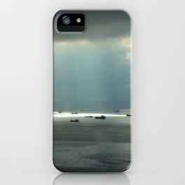 Ships at sea in Istanbul iPhone Case