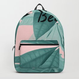 Pachira Aquatica Beach Vibes #1 #foliage #typo #decor #art #society6 Backpack