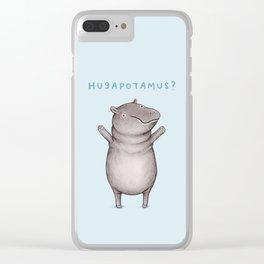 Hugapotamus? Clear iPhone Case