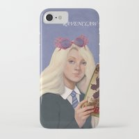 luna lovegood iPhone & iPod Cases featuring luna lovegood by Sara Meseguer