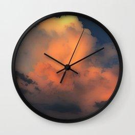 Cloud Combustion Wall Clock