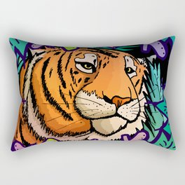 Tiger in the undergrowth Rectangular Pillow