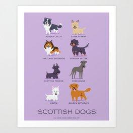 SCOTTISH DOGS Art Print