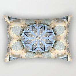 Blue And Gold Mandala Rectangular Pillow