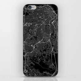San Francisco Black Map iPhone Skin