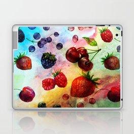 Summer fruits - Fresh strawberry berry pastel pattern Laptop & iPad Skin