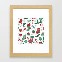 Christmas Pattern 05 Framed Art Print