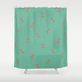 Bunny Flower Pattern Shower Curtain