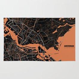 Amsterdam Minimalist Map Rug