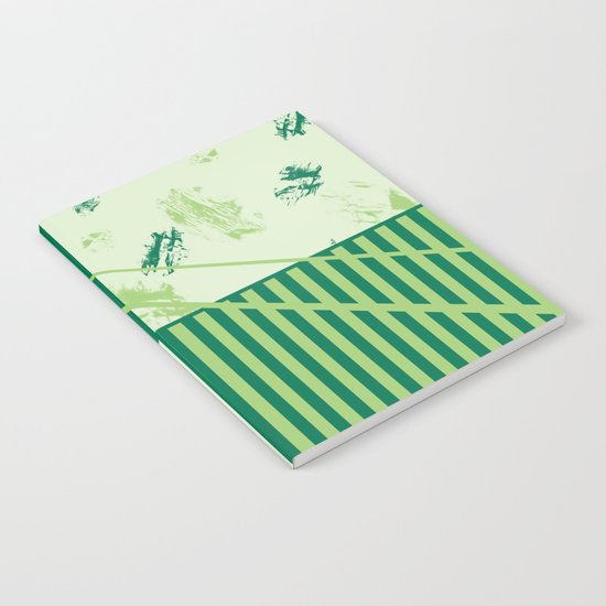 Patchwork pattern in green tones Notebook