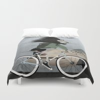 converse Duvet Covers featuring Alleycat Races by Wyatt Design