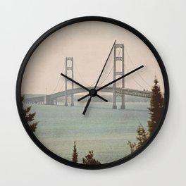 Mackinac Bridge Wall Clock