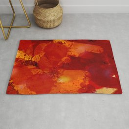 Profondo Rosso Abstract Art Expressionist Rug
