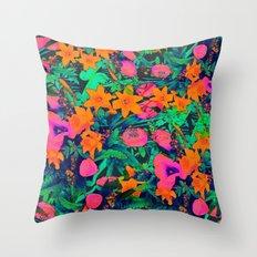 CRAZY FLOWERS Throw Pillow