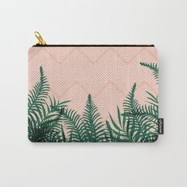 Tropical Ferns on Pink #society6 #decor #buyart Carry-All Pouch