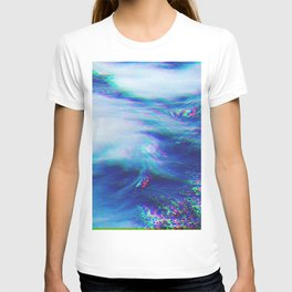 Oceanic Glitches - Very Blue T-shirt