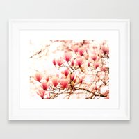 cherry blossoms Framed Art Prints featuring Cherry Blossoms by Vivienne Gucwa
