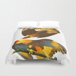 Caracara Eagle Illustration Duvet Cover