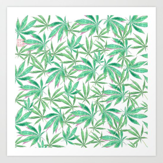 420 Leaves Art Print