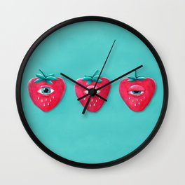 Cry Berry Wall Clock