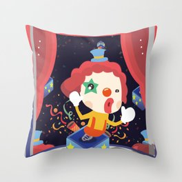 Happy Clown Fool Gift Throw Pillow