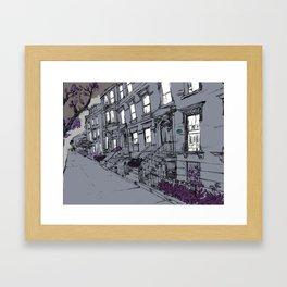 Brooklyn Heights by night Framed Art Print