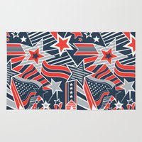 patriotic Area & Throw Rugs featuring Patriotic Pattern by Aron Gelineau