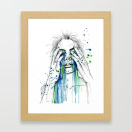 Don't fight my tears 'cause they feel so good. Framed Art Print