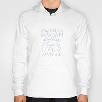 percy jackson Hoodies featuring Live it myself - book quote from Percy Jackson and the Olympians by book quay