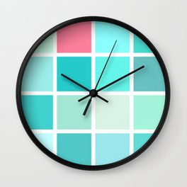 turquoise love story Wall Clock