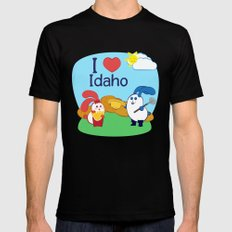 Ernest and Coraline | I love Idaho MEDIUM Black Mens Fitted Tee